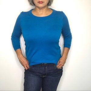 J. Crew Tippi 100% Merino Wool Blue Sweater